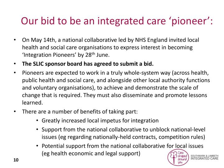 Our bid to be an integrated care 'pioneer':