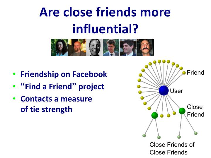 Are close friends more influential?
