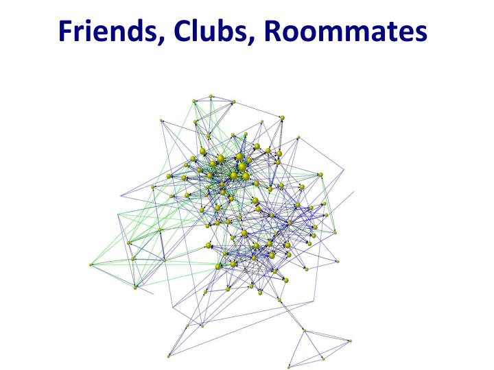 Friends, Clubs, Roommates