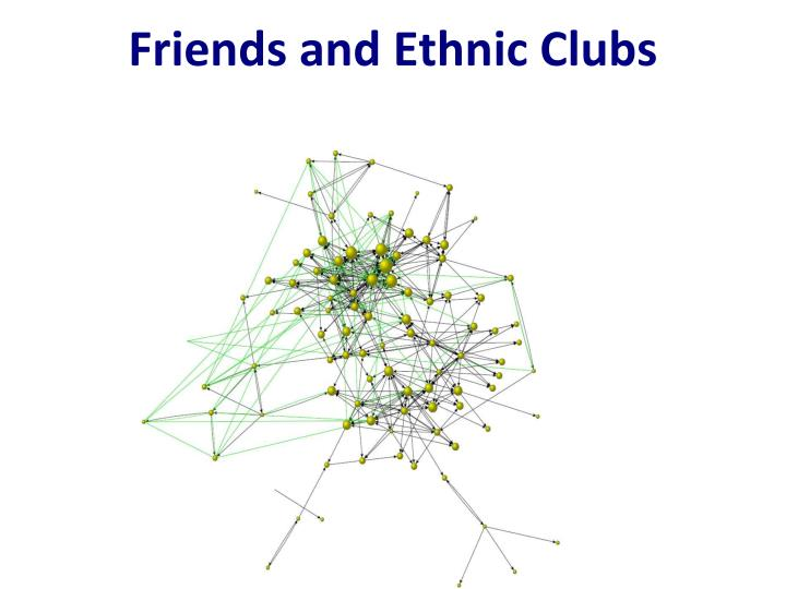 Friends and Ethnic Clubs