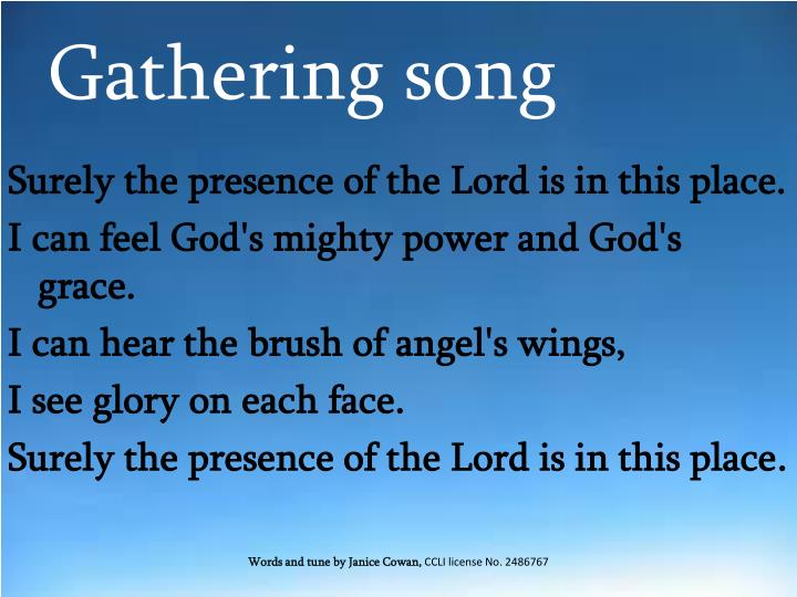 Gathering song