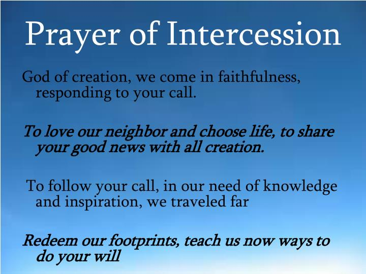 Prayer of intercession