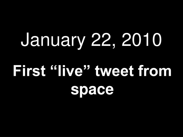 January 22, 2010