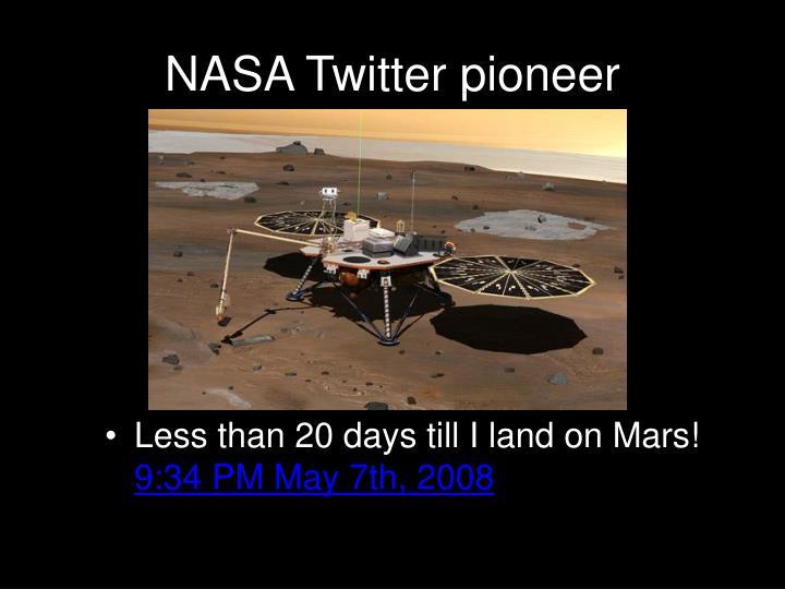 NASA Twitter pioneer