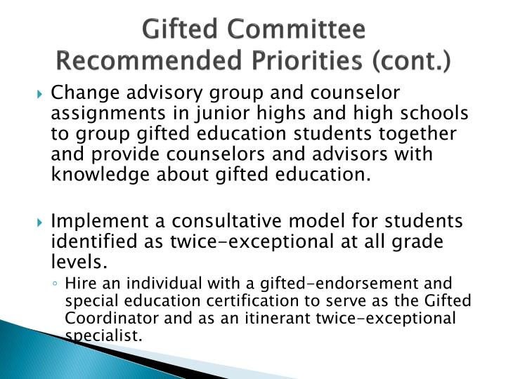 Gifted Committee