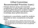 gifted committee recommended priorities cont