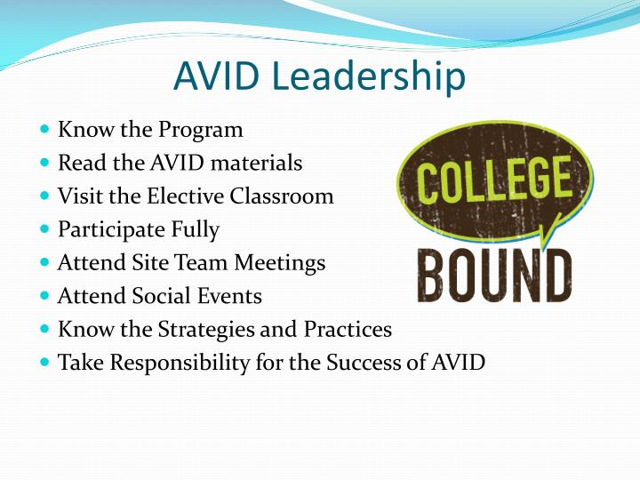 AVID Leadership