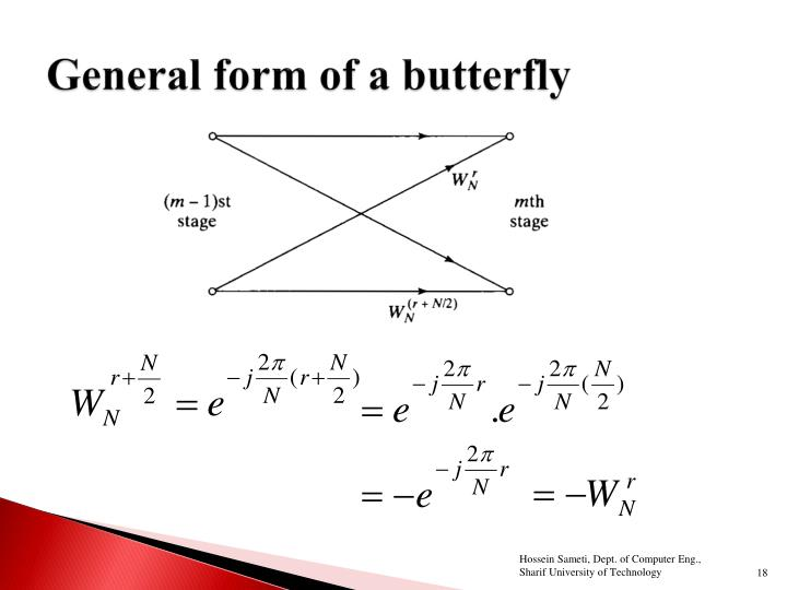 General form of a butterfly