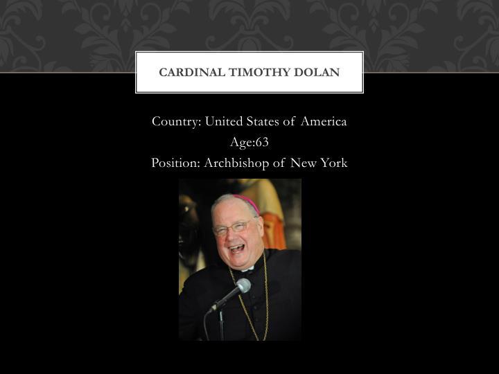 Cardinal timothy