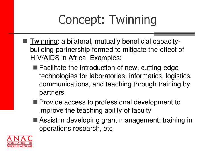 Concept: Twinning