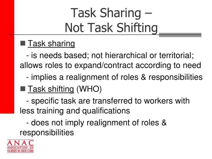 Task Sharing –