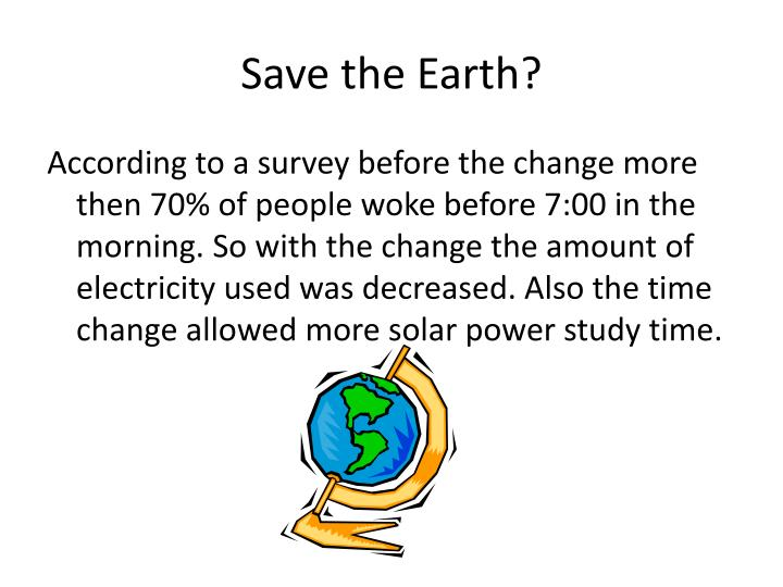 Save the Earth?