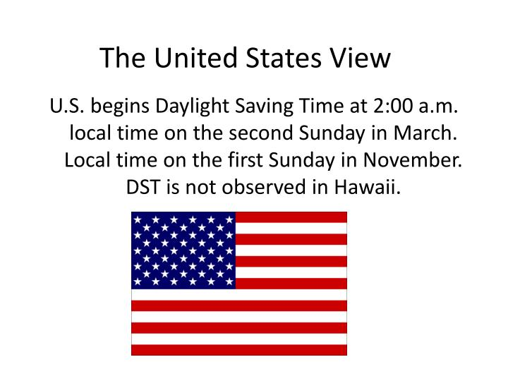 The United States View