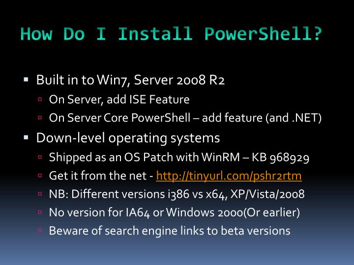 How Do I Install PowerShell?