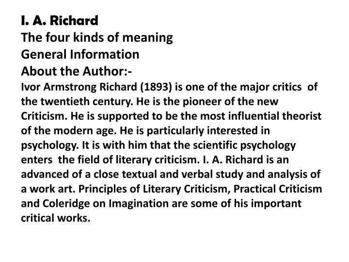 I. A. Richard
