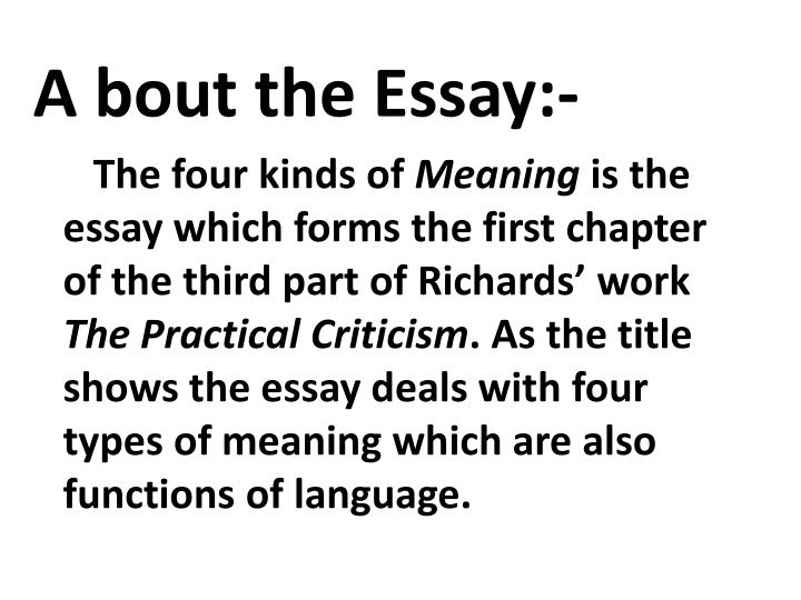 A bout the Essay:-