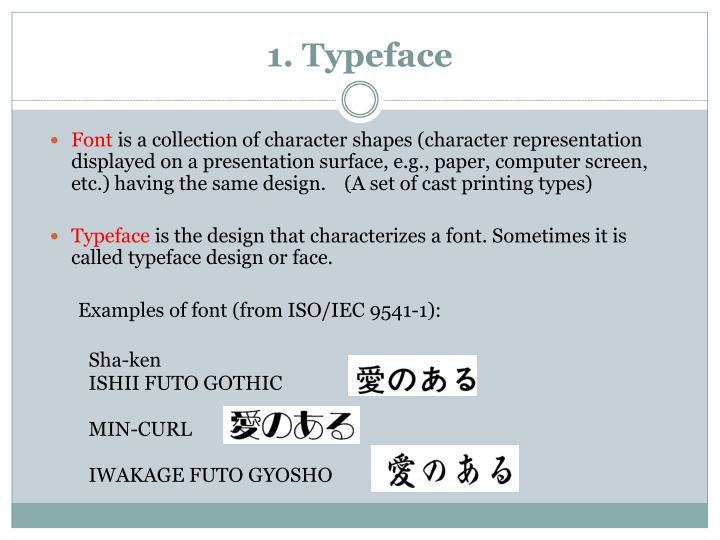 1. Typeface