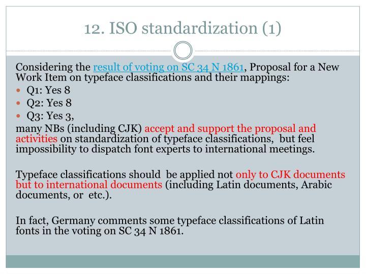 12. ISO standardization (1)
