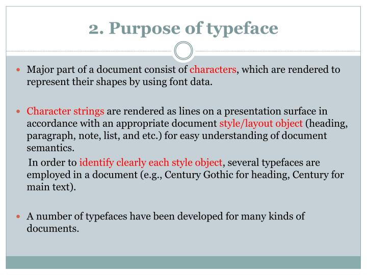 2 purpose of typeface