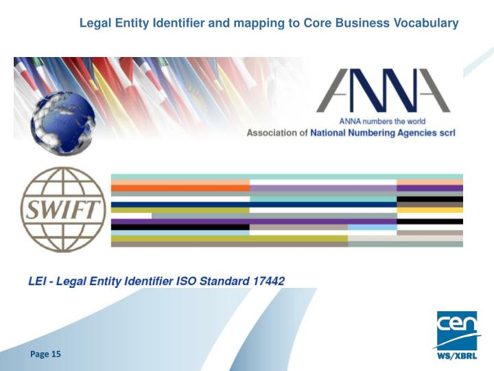 Legal Entity Identifier and mapping to Core Business Vocabulary
