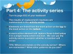 part 4 the activity series