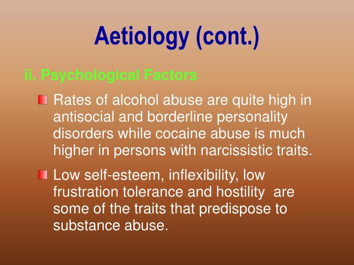 Aetiology (cont.)