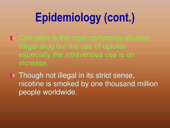 Epidemiology (cont.)