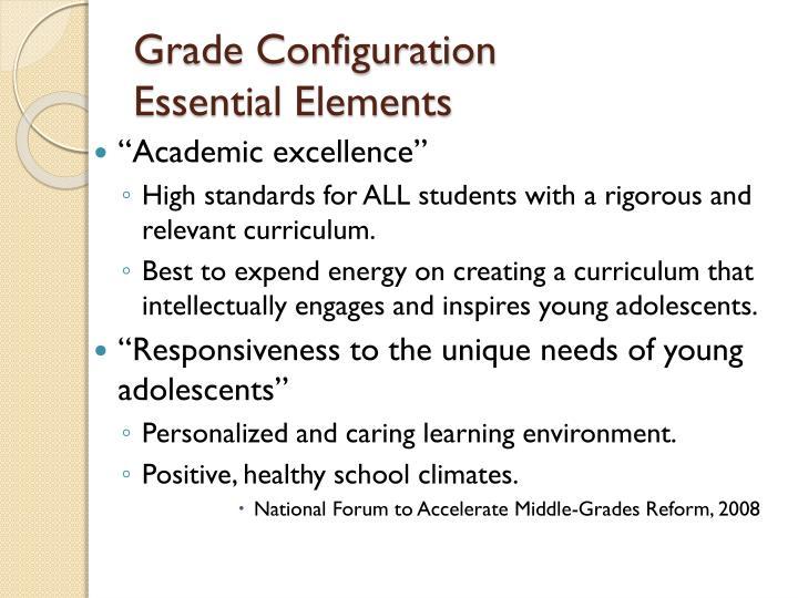 Grade Configuration