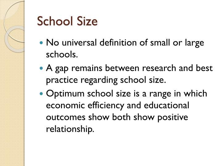 School Size