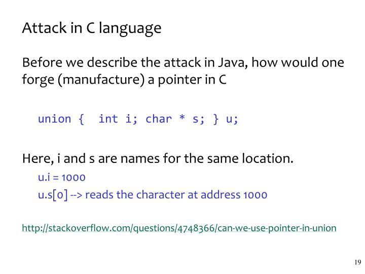 Attack in C language