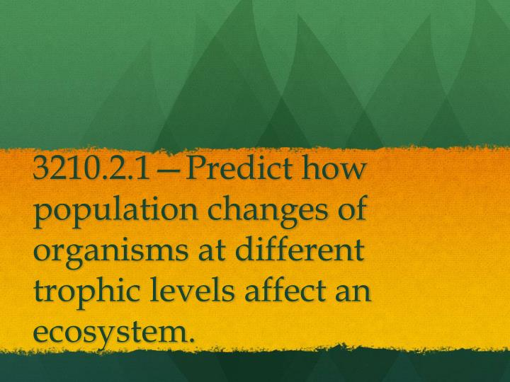 3210.2.1—Predict how population changes of organisms at different trophic levels affect an ecosyst...