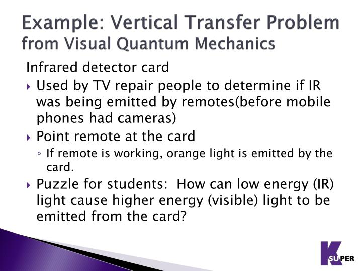 Example: Vertical Transfer Problem