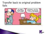 transfer back to original problem fails