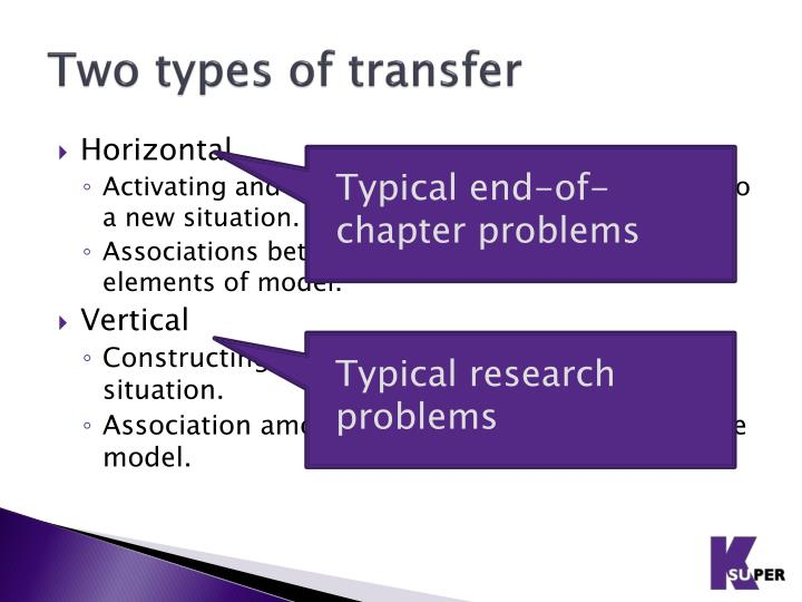 Two types of transfer
