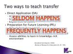 two ways to teach transfer1
