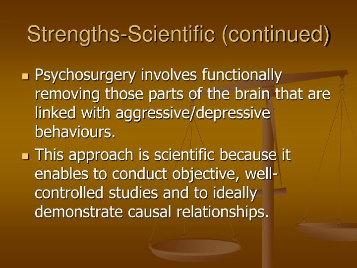 Strengths-Scientific (continued)