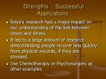 strengths successful applications