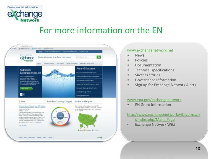 For more information on the EN