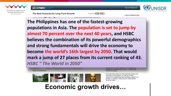 The Philippines has one of the fastest-growing populations in Asia. The