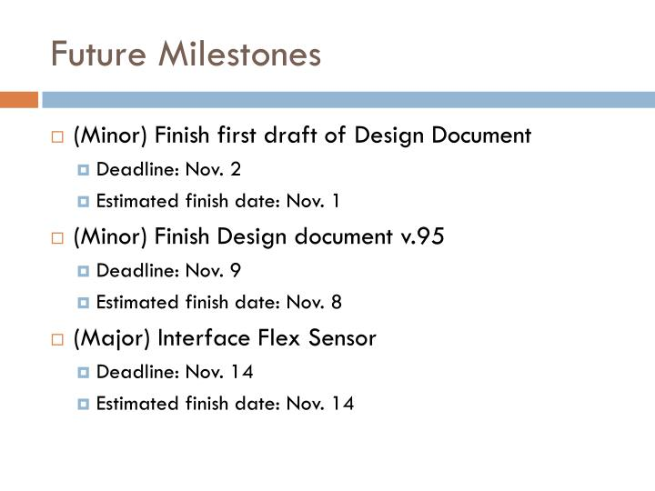 Future Milestones