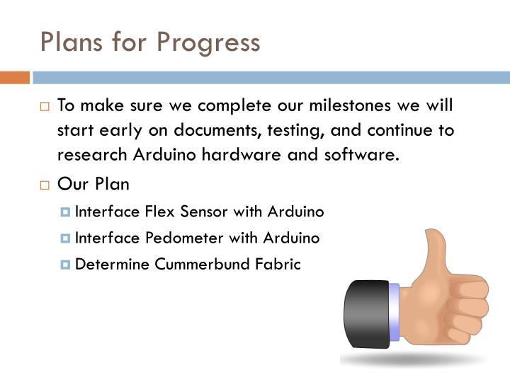 Plans for Progress