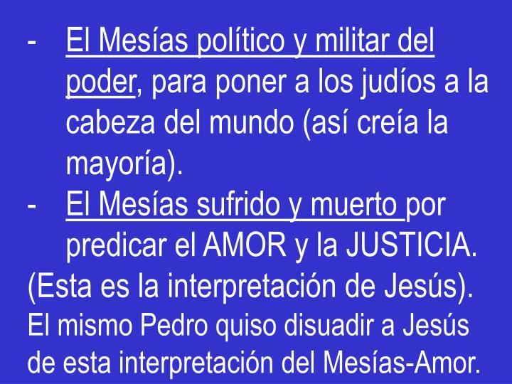 El Mesías político