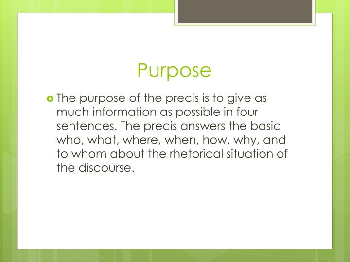 Ppt  The Rhetorical Precis Powerpoint Presentation  Id