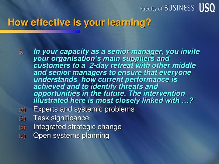 How effective is your learning?