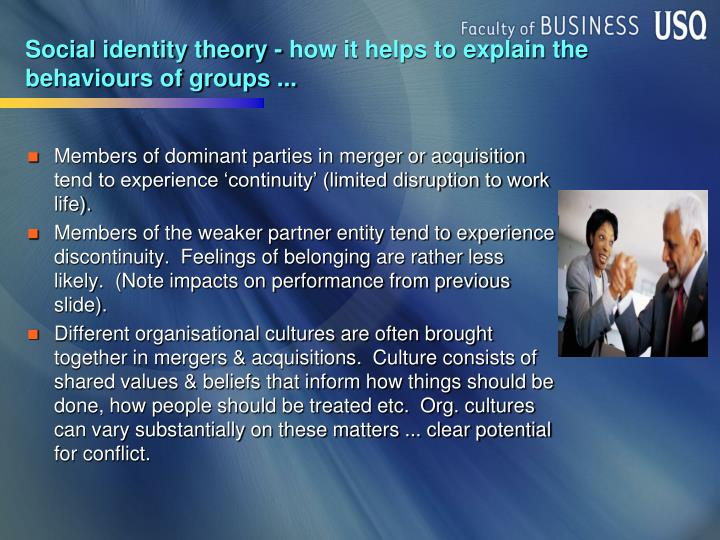 Social identity theory - how it helps to explain the behaviours of groups ...
