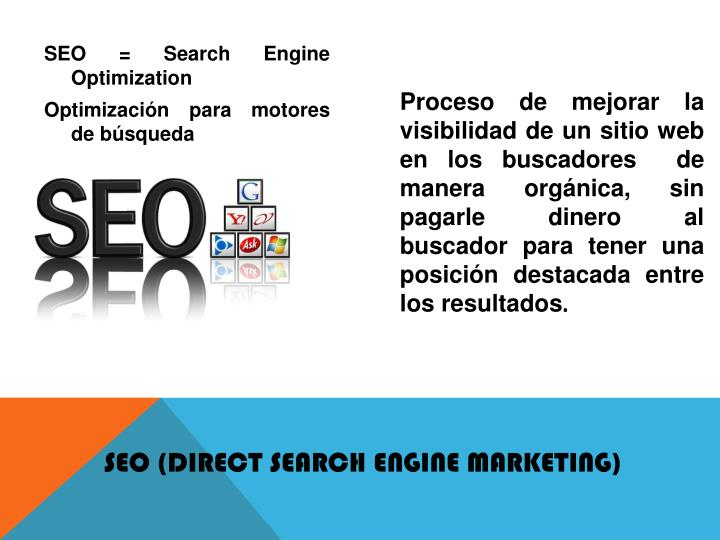 SEO (Direct Search Engine Marketing)