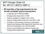 wit change order 24 re int 011 wecc rbp 2