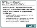 wit change order 24 re int 011 wecc rbp 21