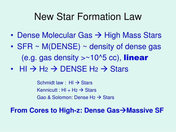 New Star Formation Law