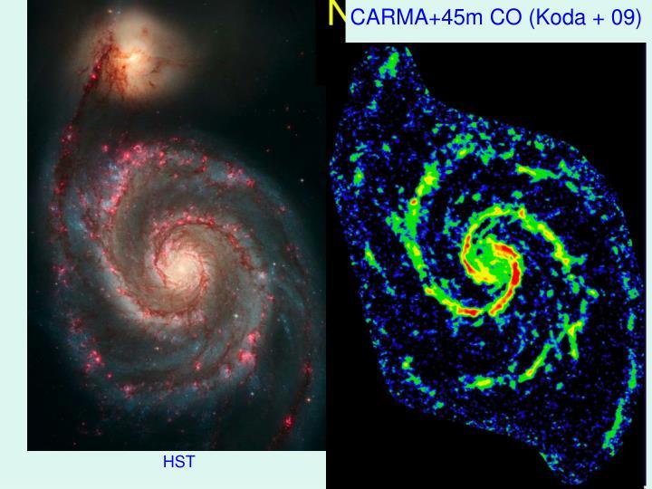 CARMA+45m CO (Koda + 09)